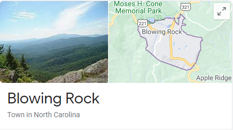 Blowing Rock NC Map